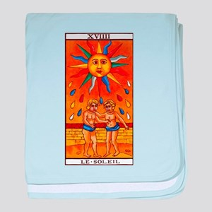 sun tarot card baby blanket