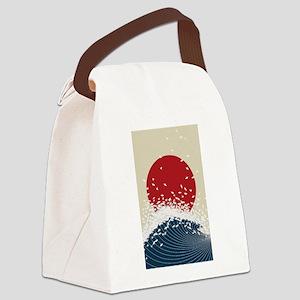 VINTAGE JAPANESE RISING SUN PRINT Canvas Lunch Bag