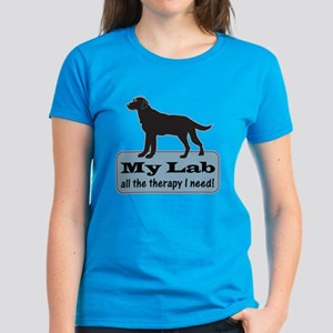Black Lab Therapy - Women's Dark T-Shirt