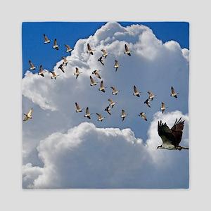 Birds in flight Queen Duvet