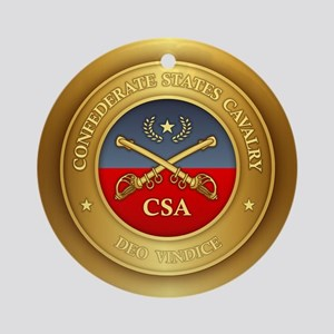 CS Cavalry Round Ornament