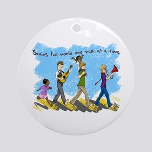 Changing the world one walk at a time Ornament (Ro