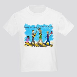 Changing the world one walk at a time Kids Light T