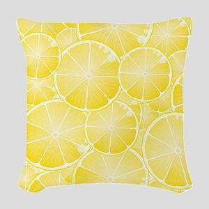 Lemons Woven Throw Pillow