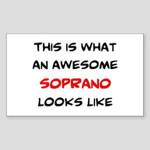 awesome soprano Sticker (Rectangle)