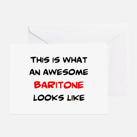 awesome baritone Greeting Card