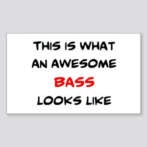 awesome bass Sticker (Rectangle)