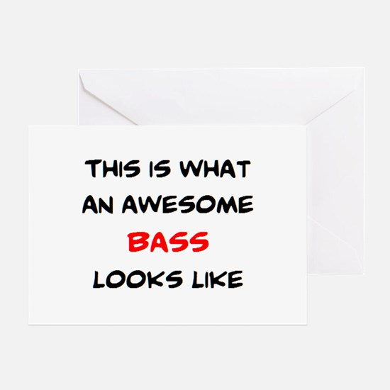 awesome bass Greeting Card