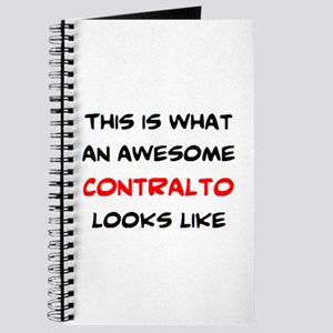 awesome contralto Journal