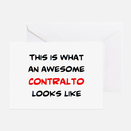 awesome contralto Greeting Card