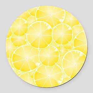 Lemons Round Car Magnet