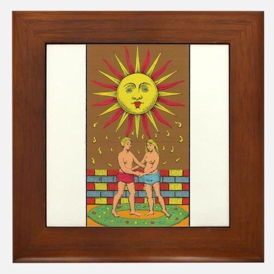tarot card Framed Tile