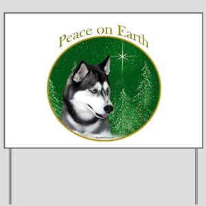 Husky Peace Yard Sign