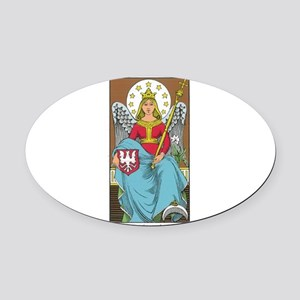 tarot card Oval Car Magnet