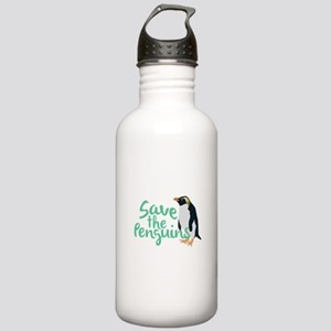 Save the Penguins Water Bottle