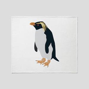 Rock Hopper Penguin Throw Blanket