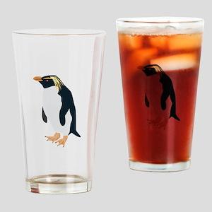 Rock Hopper Penguin Drinking Glass