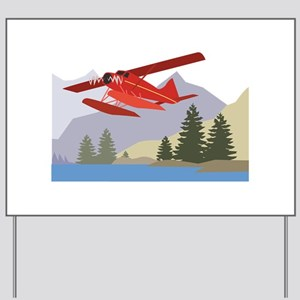 Alaska Plane Yard Sign