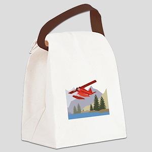 Alaska Plane Canvas Lunch Bag