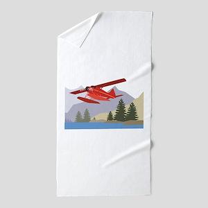 Alaska Plane Beach Towel