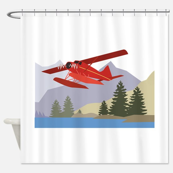 Alaska Plane Shower Curtain