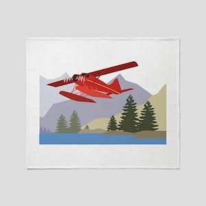 Alaska Plane Throw Blanket