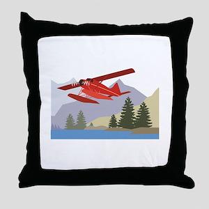 Alaska Plane Throw Pillow