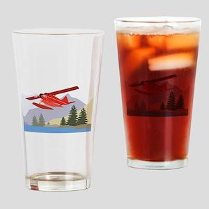 Alaska Plane Drinking Glass