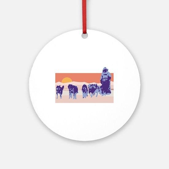 Iditarod Round Ornament