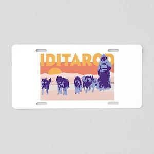 Iditarod Race Aluminum License Plate