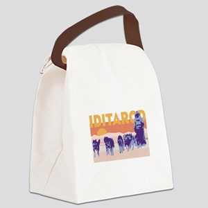 Iditarod Race Canvas Lunch Bag