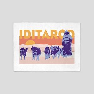 Iditarod Race 5'x7'Area Rug