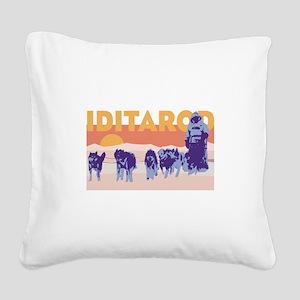 Iditarod Race Square Canvas Pillow