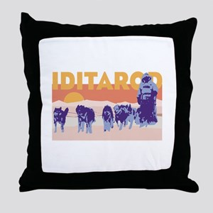 Iditarod Race Throw Pillow