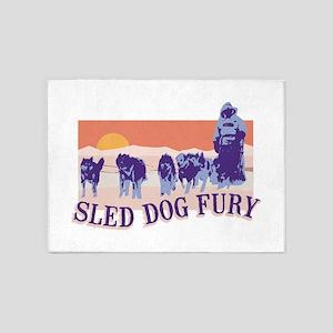 Sled Dog Fury 5'x7'Area Rug