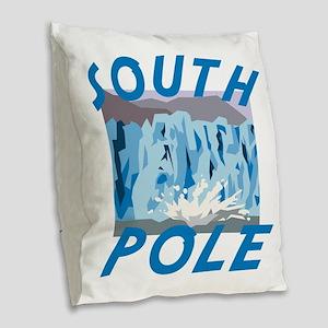 South Pole Burlap Throw Pillow