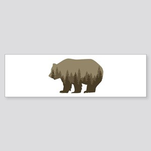 Grizzly Trees Bumper Sticker