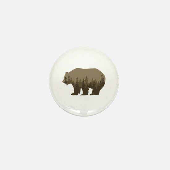 Grizzly Trees Mini Button