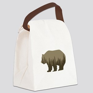 Grizzly Trees Canvas Lunch Bag