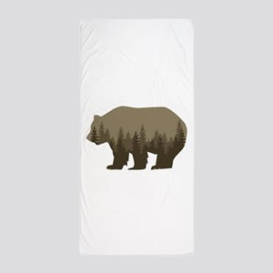 Grizzly Trees Beach Towel