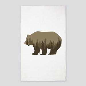 Grizzly Trees Area Rug