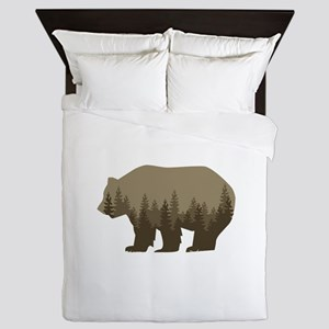 Grizzly Trees Queen Duvet