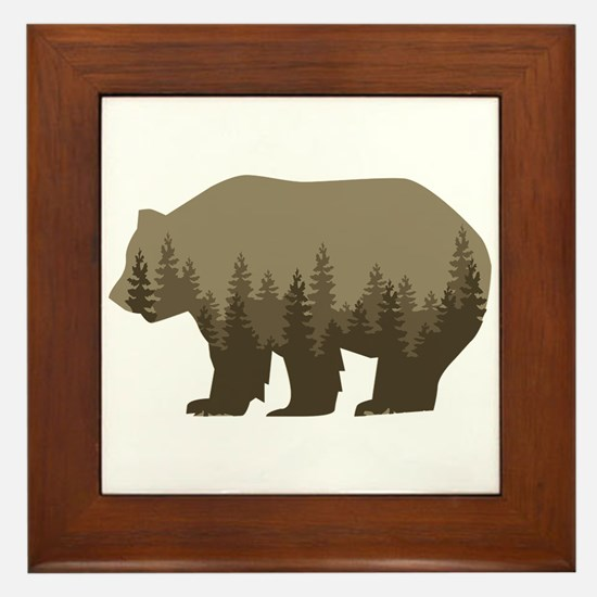 Grizzly Trees Framed Tile