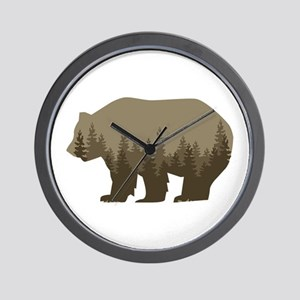 Grizzly Trees Wall Clock