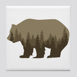 Grizzly Trees Tile Coaster