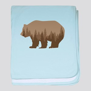 Grizzly Trees baby blanket