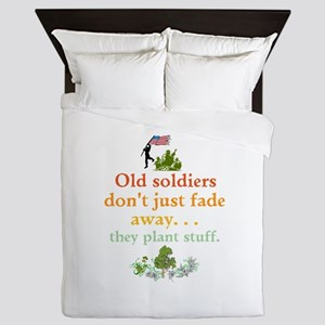 Old Soldiers Dont Fade Queen Duvet