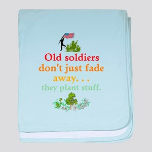 Old Soldiers Dont Fade baby blanket