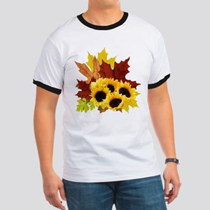 Fall Bouquet Ringer T