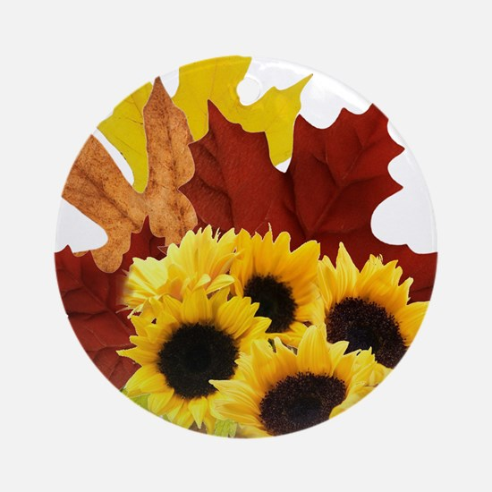 Fall Bouquet Ornament (Round)